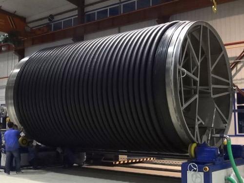 克拉管生产线所生产的克拉管可以进行循环使用